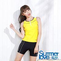 SUMMERLOVE 夏之戀 大女長版兩件式泳衣(F13707)
