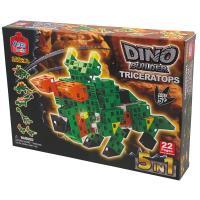 【 日本 Artec 彩色積木 】DINO 恐龍組合 – 三角龍 ( 綠 )
