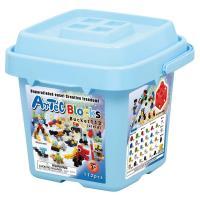 【 日本 Artec 彩色積木 】112塊收納積木桶