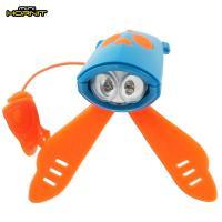 英國MINI HORNIT 蜜蜂燈鈴鐺-自行車/滑板車嬰兒推車用LED車前燈+電子喇叭-藍橘
