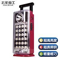 【太星電工】夜巡俠彩色輕巧LED充電式照明燈(紅)