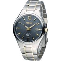 精工 SEIKO Solar 經典紳士【鈦】時尚腕錶  V157-0BB0KS SNE409P1