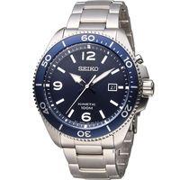 SEIKO 精工 KINETIC 衝鋒戰士人動電能腕錶 5M82-0AY0B 藍 SKA745P1