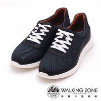 【WALKING ZONE】真皮透氣運動鞋 男鞋-鐵灰(另有黑)