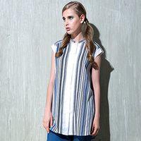 【女匠 Plombiere】個性條紋長版襯衫洋裝(6113006-3101/3102)