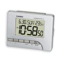 【CASIO】測溫型數字電子鬧鐘-銀 (DQ-747-8)