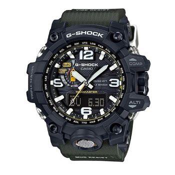 【CASIO】G-SHOCK 征服世界強悍機能陸海空防泥概念電波錶-墨綠 (GWG-1000-1A3)