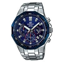 【CASIO】EDIFICE 多角切割不鏽鋼拼接錶圈賽車錶-藍 (EFR-554RR-2A)