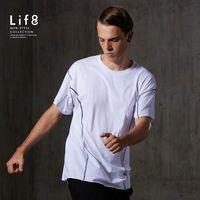 Life8-Sport 精梳純棉 舒適寬版圓領T-13114-白色
