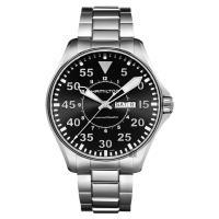 Hamilton 漢米爾頓 Khaki Aviation卡其飛行機械錶 黑x銀 46mm H64715135