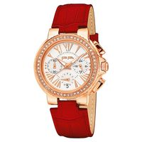 Folli Follie Watchalicious 羅馬晶鑽計時女錶 白x紅 32mm WF13B001SES-RE