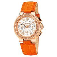 Folli Follie Watchalicious 羅馬晶鑽計時女錶 白x橘 32m WF13B001SES-OR