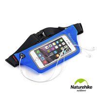 Naturehike 反光防水可透視貼身路跑運動腰包 手機包 寶藍