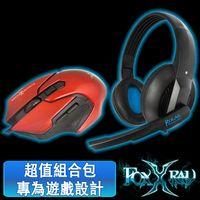 FOXXRAY 極地響狐電競耳麥滑鼠組(FXR-CAM-05/極地紅)