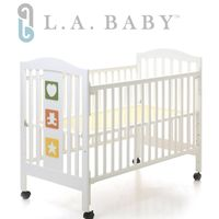 L.A. Baby 美國加州貝比 維吉尼亞嬰兒中床/原木床/童床(白色)