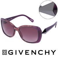 GIVENCHY 法國魅力紀梵希時尚幾何美學風格太陽眼鏡 - (紫) GISGV8297NHX
