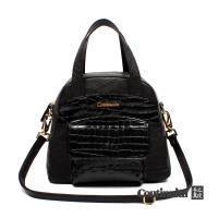 【Continuita 康緹尼】黛安娜復古手提包-黑色/咖啡色/藍色