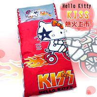 【凱蒂貓HELLO KITTY】KISS熱火兒童睡袋-奔馳腳踏車篇(4*5尺)
