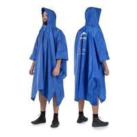 PUSH! 戶外休閒登山用品便携式三合一功能雨衣 天幕棚布 防潮墊地墊P99藍色
