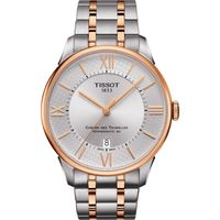 TISSOT 天梭 杜魯爾限定 80動力儲存機械腕錶(銀x玫瑰金/42mm) T0994072203801