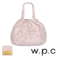 【w.p.c】時尚包包雨衣/束口防雨袋 (米白豹紋)