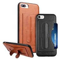 【Fierre Shann】APPLE iPhone7 Plus 5.5吋 手工皮革可插卡支架背殼保護殼