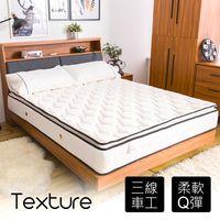 【時尚屋】黛莉塔5尺雙人舒適層乳膠透氣彈簧床墊BD7-02-5台灣製/免組裝/免運費