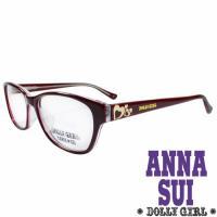 Anna Sui安娜蘇日本Dolly Girl系列可愛少女愛心款造型太陽眼鏡‧復古紅【DG528-207】