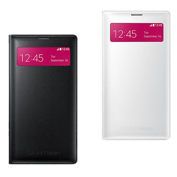 SAMSUNG GALAXY NOTE4 S-View 原廠 插卡式透視感應皮套(贈保護貼)