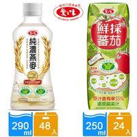 愛之味 純濃燕麥x2箱組(290mlx48瓶)+Oligo健字號鮮採蕃茄汁(250mlx24瓶)