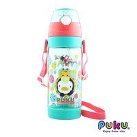 任-PUKU藍色企鵝 動物萬花筒Tritan水壺550ml-湖水綠