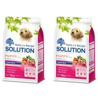 SOLUTION耐吉斯 幼犬 聰明成長 羊肉+蔬菜 狗飼料 1.5公斤*2