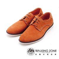 WALKING ZONE 素色英倫綁帶休閒鞋 男鞋-棕(另有黑)