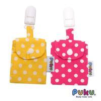 任-PUKU藍色企鵝 平安符保護袋(2入)-粉色