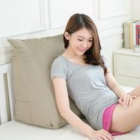 【凱蕾絲帝】得體多功能舒適三角靠墊/美腿枕-茉綠秋香(1入)