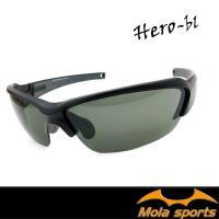 【MOLA SPORTS 摩拉】運動太陽眼鏡  自行車 跑步 高爾夫 棒球 Hero-bl