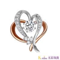 【光彩珠寶】GIA0.5克拉 日本舞動鑽石項鍊 相知相惜