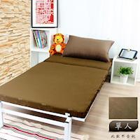 壓花單人台灣製造透氣排汗床墊咖啡色KOTAS