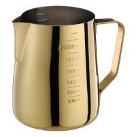 Tiamo 專業厚款附刻度標拉花杯950ml 鍍鈦金-HC7091