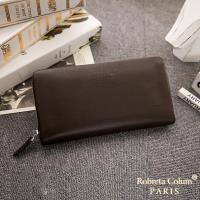 Roberta Colum - 經典品味鹿紋牛皮單拉鍊長夾(正規版)-共3色