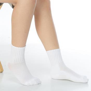 【KEROPPA】3~6歲學童專用毛巾底氣墊短襪x4雙(男女適用)C93002-B