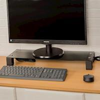 莫菲思【百變王】USB強化玻璃螢幕置物架
