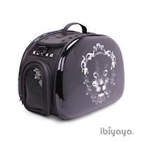 【IBIYAYA依比呀呀】透明膠囊寵物提包-黑錢豹(FC1220)