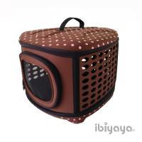 【IBIYAYA依比呀呀】輕巧摺疊寵物提籠-咖啡點點(FC1006)
