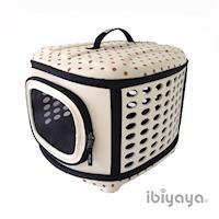 【IBIYAYA依比呀呀】輕巧摺疊寵物提籠-米點點(FC1006)