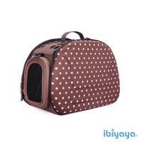 【IBIYAYA依比呀呀】輕巧摺疊寵物提包-咖啡點點(FC1007)
