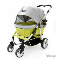 【IBIYAYA依比呀呀】IBBI頭等艙寵物推車-綠灰(FS1202)