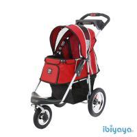 IBIYAYA依比呀呀 充氣胎冠軍子彈寵物推車-紅(FS801)