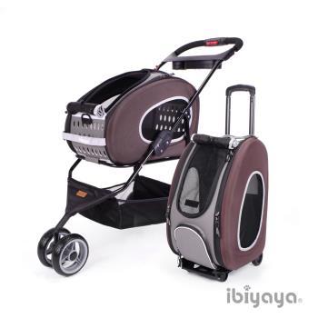 IBIYAYA依比呀呀 FS1009 五彩繽紛寵物推車提包組-咖啡