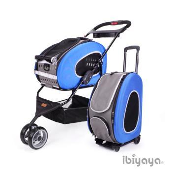 IBIYAYA依比呀呀 FS1009 五彩繽紛寵物推車提包組-寶藍